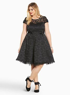 1e6a95bf5 HELLO KITTY BLACK Embroidered Peter Pan Collar Swing Dress SIZE 22 ...