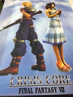 Final Fantasy VII Crisis Core Wall Scroll Poster Mural - 31 x 42 inches