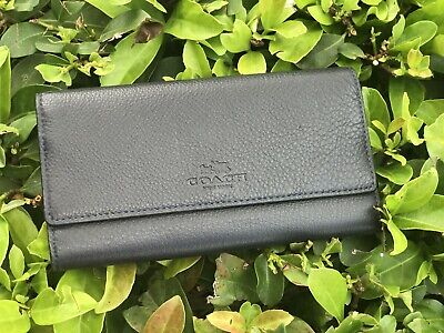 new arrivals 85571 e6201 NWT COACH F53708 Pebbled Leather Trifold ID Wallet $250/Rose ...