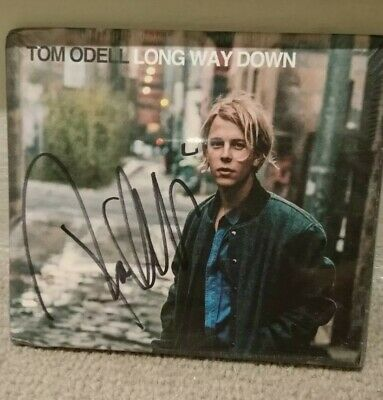 LONG WAY DOWN FRAMED CD PRESENTATION. PERSONALLY SIGNED//AUTOGRAPHED TOM ODELL