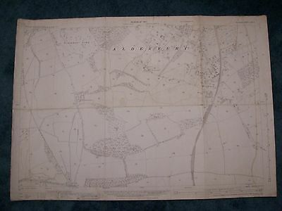 Ordnance Survey 25 inch map Whaddon Wiltshire Sheet LXXII.5 1937