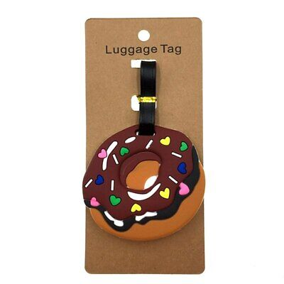 Doghnut Luggage Tag ID Address Holder Boarding Tag Travel Suitcase Accessories
