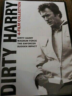 Dirty Harry 4 Film Collection DVD Good Condition