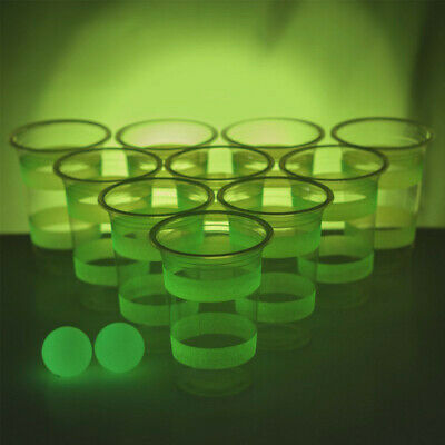Beer Pong Phosphorescent, Cadeau Fun - Neuf