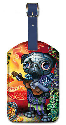 Pacifica Island Art Leatherette Luggage Baggage Tag Treasures by Mark Mackay