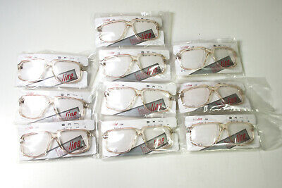 6376bec31f6 Lot of 10 beige clear vintage eyeglasses - new eyeglass frames - vtg 80s  glasses