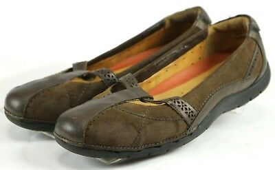 f406268aa8fd Clarks Unstructured  90 Women s Mary Janes Shoes Size 9 WIde Leather Brown