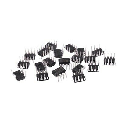 20 Pieces LM358 LM358N LM358P Dual Operational Amplifiers Op-Amp DIP8 T9E8