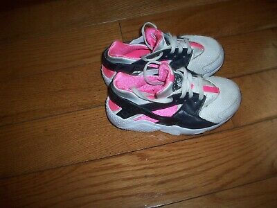 new arrival d149f 15594 Nike Air Huarache (Toddler Girl s Size 11C) Athletic Sneakers White Black  Pink