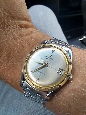 *RARE* Vintage Universal Geneve Polerouter Style Microtor cal 218-2 *Serviced*
