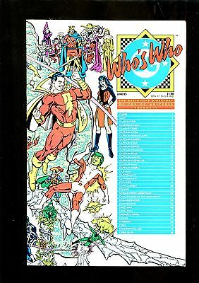 WHOS WHO 4 (9.8) SHAZAM COVER DC (b033)