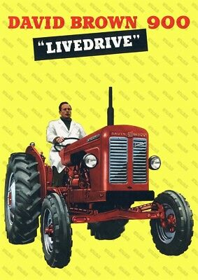 DAVID BROWN 1200 A3 Tractor Advertising Poster