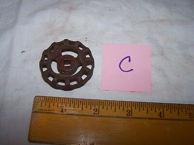 Vintage Cast Iron INDUSTRIAL Faucet VALVE HANDLE  - Steampunk - Lot C