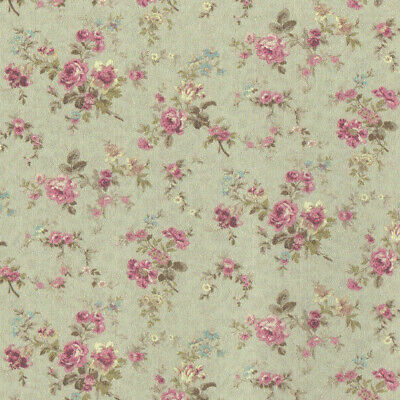"""0001365 3 Sheets 1:12 or 1/"""" Scale Dollhouse Miniature Wallpaper Mint Green"""