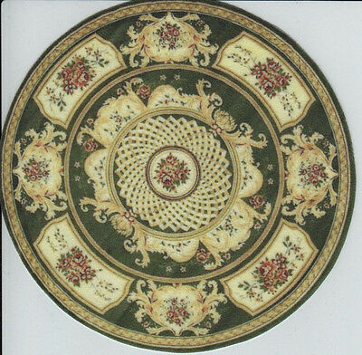 "0001012 8/"" 1:12 or 1/"" Scale Dollhouse Miniature Round Area Rug Approx"