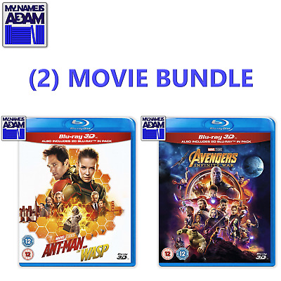 AVENGERS: INFINITY WAR   &   ANT-MAN AND THE WASP  Blu-ray 3D + 2D (REGION-FREE)