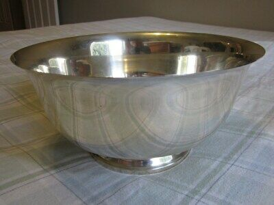 """Vintage Paul Revere Reproduction 10"""" Sterling Silver Bowl by Shreve, Crump & Low"""