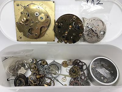 Mixed Lot of Various Watch or Clock Parts for Repair Crafting Jewelry (RF619)