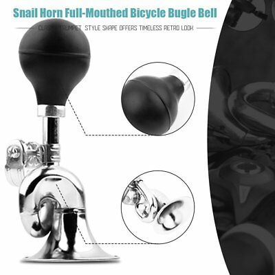 Non-Electronic Trumpet Loud Bicycle Cycle Bike Bell Vintage Retro Bugle Hoo P0C6