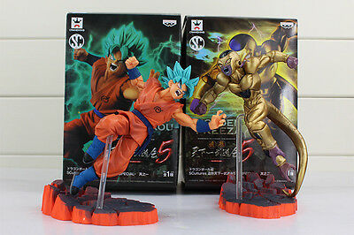 Dragon Ball Super Z Super Sayan God Goku Golden Freezer Action Figure Model Toy
