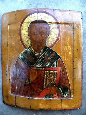 16C Antique Russia Russian Yaroslavl Icon signed by Expert  @ 17 x 15 x 3/4 inch