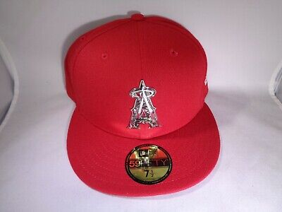 cd95ccb735a632 Los Angeles Angels New Era MLB 59FIFTY Fitted Baseball Hat Cap (MEN Size 7 1