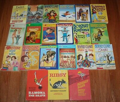 Lot of 21 Ramona/Beezus/Henry/Ralph, etc by Beverly Cleary  3 hb