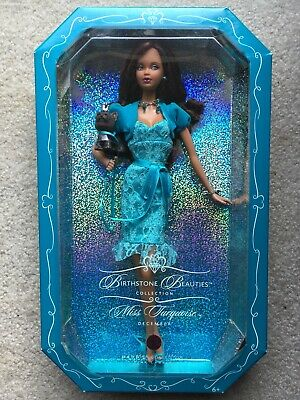 NIB 2007 Barbie Birthstone Beauties Miss Turquoise December Pink Label
