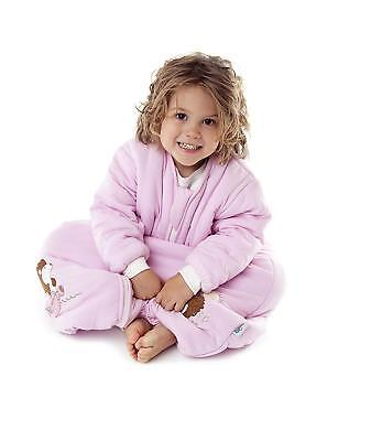 Slumbersafe Winter Bamboo Sleeping Bag with Feet - Blue or Pink - 12-18 Months