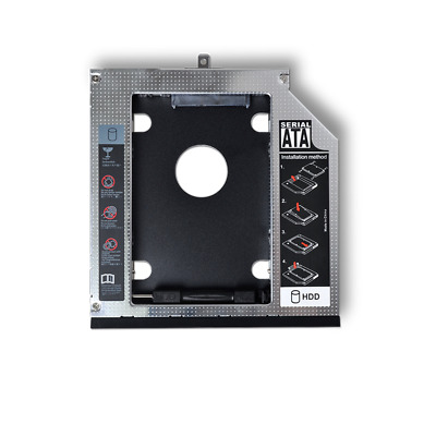 "2nd HDD Caddy 9.5mm 2.5"" SATA Hard Drive Adapter For Laptop Universal CD/DVD-ROM"
