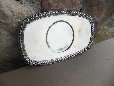 Vintage Antique Apollo EPNS EP Nickel Silver Oval Plate Bernard Rice's Sons 5772