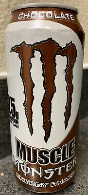 New Muscle Monster Chocolate Energy Shake Drink 15 Fl Oz Full Can Free Shipping