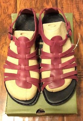 59a3543da77 Women s Leather Beet Red Alman Gladiator Sandals by Keen size 10.5