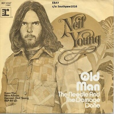 """1972 Neil Young """"Old Man"""" Song Release Harvest Album Promo Print Advetisement"""