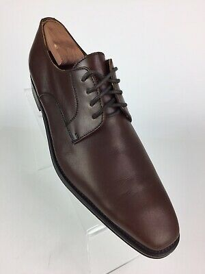f34c63110cd BROLETTO MENS BROWN Leather Brogue Shoes Size 9.5 M Made in Italy ...