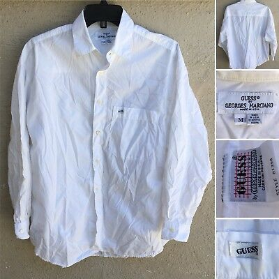 Vintage Guess By Georges Marciano Shirt M Made In USA Style 81398 Cut 23121