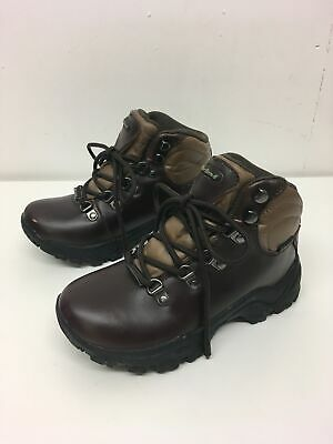 Childs Peter Storm Brown Faux Leather Lace Up Waterproof Ankle Boots Uk 13 C