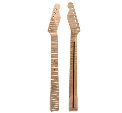 21 Fret Tiger Flame Maple Guitar Neck Replacement Maple TL Electric Guitar Neck