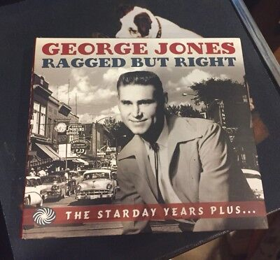 George Jones 3CD Set Ragged But Right-Starday Years RARE OOP