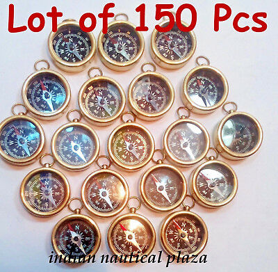 Lot Of 150 Pcs Nautical Vintage Maritime Gift Antique Brass Pocket Compass