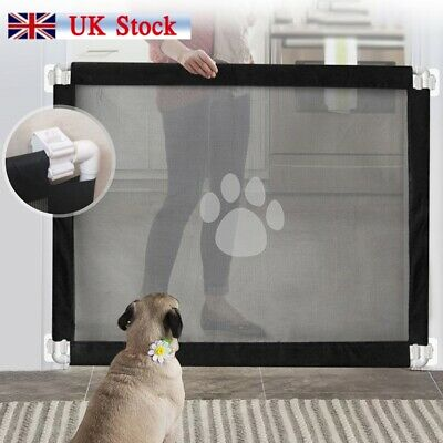 Retractable Pet Dog Gate Safety Guard Folding Baby Toddler Stair Isolation UK