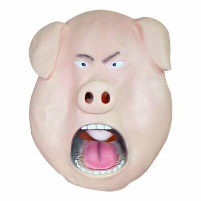 Creative Pig Head Latex Mask Halloween Party Ball Props Animal Headgearho