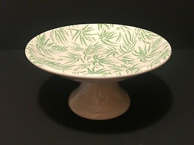 """Vintage Mayer China Palm Leaf 8"""" Compote Candy Dish Beaver Falls Pa Restaurant"""