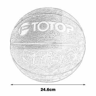 TOTOP Outdoor PU Leather Material Basketball Ball Official Size Training BallGH