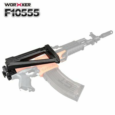Worker Mod Shoulder Stock Replacement Kit For Nerf N-strike Elite Toy Gun