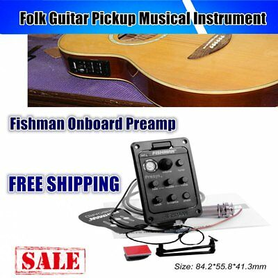 Fishman Onboard Preamp Folk Guitar Pickup Musical Instrument Accessory xhy