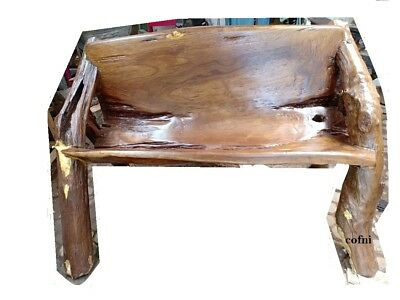 Natural Rustic Garden Bench Teak wood restore and repaint