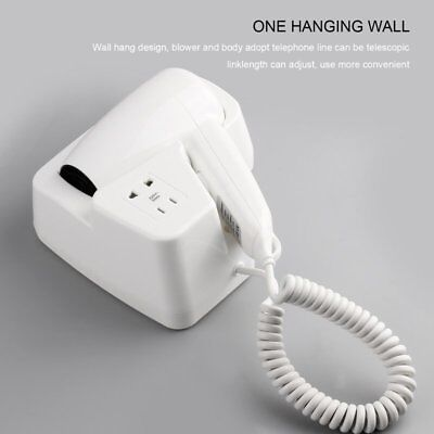 Wall Mounted Hair Dryer 1300W Household Hanging Electric Blower for Hotel B^