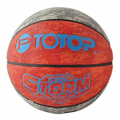 TOTOP Outdoor PU Leather Material Basketball Ball Official Size Training Ball Z^
