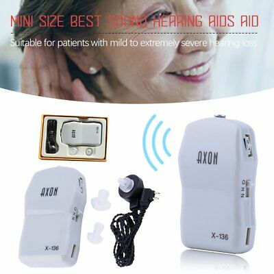 Digital Hearing Aid Aids Mini Ear Sound Amplifier Adjustable Tone Lightweight OH
